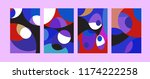 vector abstract colorful...   Shutterstock .eps vector #1174222258