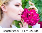 rose extract oil aroma product. ... | Shutterstock . vector #1174223635