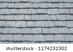 gray tile shingles | Shutterstock . vector #1174232302