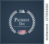 patriot day usa never forget 9... | Shutterstock .eps vector #1174233262