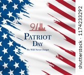 patriot day usa never forget 9... | Shutterstock .eps vector #1174233292
