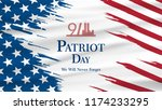 patriot day usa never forget 9... | Shutterstock .eps vector #1174233295