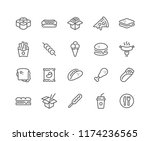 simple set of fast food related ... | Shutterstock .eps vector #1174236565