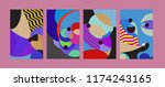 vector abstract colorful... | Shutterstock .eps vector #1174243165