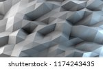 abstract gray and blue... | Shutterstock . vector #1174243435