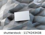 blank white business card on... | Shutterstock . vector #1174243438