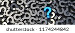 blue question mark on a... | Shutterstock . vector #1174244842