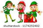a set of female elf illustration | Shutterstock .eps vector #1174252402