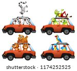 a set of animals in car... | Shutterstock .eps vector #1174252525