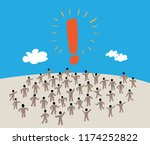 large group of people with like ... | Shutterstock .eps vector #1174252822