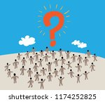 large group of people with like ... | Shutterstock .eps vector #1174252825