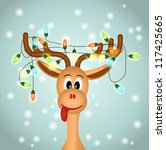 Funny Reindeer With Christmas...