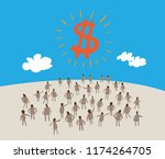 business people message talking ... | Shutterstock .eps vector #1174264705