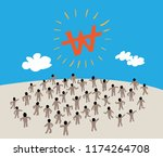 business people message talking ... | Shutterstock .eps vector #1174264708
