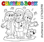 coloring book carol singing... | Shutterstock .eps vector #117426598