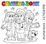 coloring book carol singing... | Shutterstock .eps vector #117426598