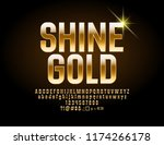 luxury shine  font. vector... | Shutterstock .eps vector #1174266178