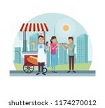 fast food at park | Shutterstock .eps vector #1174270012