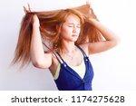 closeup portrait of female... | Shutterstock . vector #1174275628
