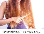 closeup portrait of female... | Shutterstock . vector #1174275712