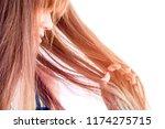 closeup portrait of female... | Shutterstock . vector #1174275715