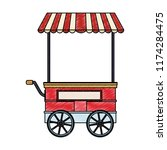 food booth cart scribble | Shutterstock .eps vector #1174284475
