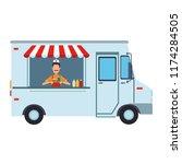 foodtruck restaurant isolated | Shutterstock .eps vector #1174284505