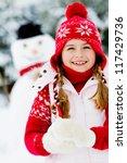 Winter  Snowman   Lovely Girl...