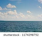 seascape with clouds. | Shutterstock . vector #1174298752