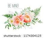 vector wedding invite  greeting ...   Shutterstock .eps vector #1174304125