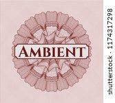 red abstract linear rosette... | Shutterstock .eps vector #1174317298