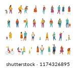 different people big vector set.... | Shutterstock .eps vector #1174326895