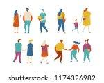 crowd. different people vector... | Shutterstock .eps vector #1174326982