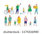 crowd. different people vector... | Shutterstock .eps vector #1174326985