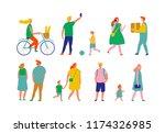 crowd. different people vector... | Shutterstock .eps vector #1174326985
