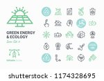 green energy   ecology vector... | Shutterstock .eps vector #1174328695