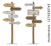 two old painted signposts... | Shutterstock .eps vector #1174330765