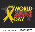 world suicide prevention day... | Shutterstock .eps vector #1174334875