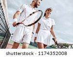 enjoying spending time on the... | Shutterstock . vector #1174352008