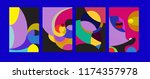 vector abstract colorful... | Shutterstock .eps vector #1174357978