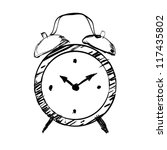 hand drawn clock | Shutterstock .eps vector #117435802