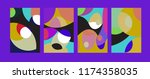 vector abstract colorful...   Shutterstock .eps vector #1174358035