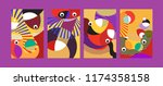 vector abstract colorful...   Shutterstock .eps vector #1174358158