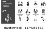 outline style icon pack for... | Shutterstock .eps vector #1174359532