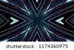 abstract kaleidescopic club... | Shutterstock . vector #1174360975