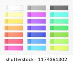 sticky paper notes with shadow... | Shutterstock .eps vector #1174361302