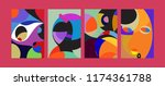 vector abstract colorful...   Shutterstock .eps vector #1174361788