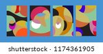 vector abstract colorful...   Shutterstock .eps vector #1174361905