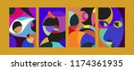 vector abstract colorful...   Shutterstock .eps vector #1174361935