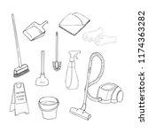 hand drawn set of vector design ... | Shutterstock .eps vector #1174363282